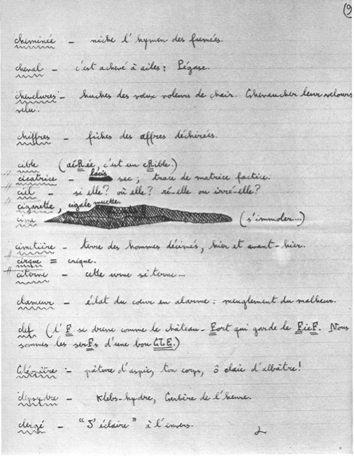 Page 6 du manuscrit Doucet
